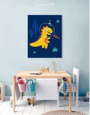 Roar Dino Nursery Canvas Wall Art - Image 5