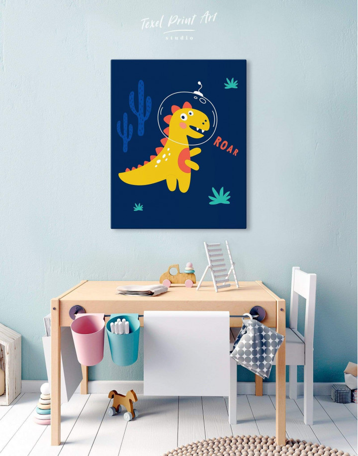 Roar Dino Nursery Canvas Wall Art - Image 5