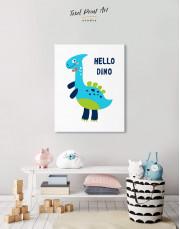 Hello Baby Dino Nursery Canvas Wall Art