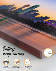 Silhouette Dallas Skyline Canvas Wall Art - Image 1