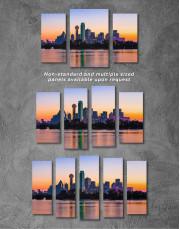 Silhouette Dallas Skyline Canvas Wall Art - Image 4