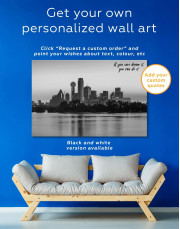 Silhouette Dallas Skyline Canvas Wall Art - Image 5
