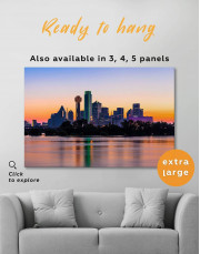Silhouette Dallas Skyline Canvas Wall Art