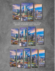 Dallas Texas Skyline View Canvas Wall Art - Image 2
