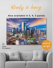 Dallas Texas Skyline View Canvas Wall Art