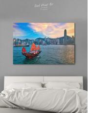 Hong Kong Skyline Canvas Wall Art