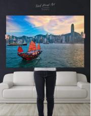 Hong Kong Skyline Canvas Wall Art - Image 4
