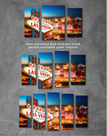 Welcome to Las Vegas Canvas Wall Art - image 2