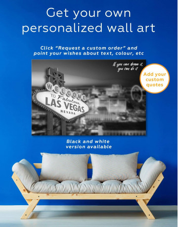 Welcome to Las Vegas Canvas Wall Art - image 1