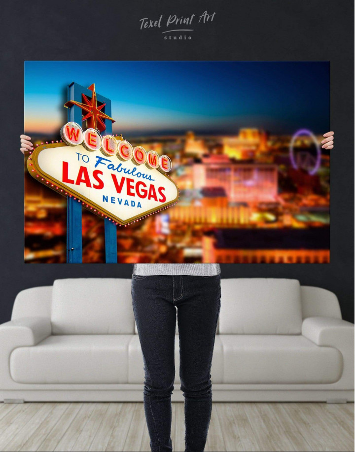 Welcome to Las Vegas Canvas Wall Art - Image 4
