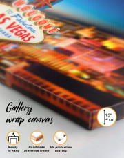 Welcome to Las Vegas Canvas Wall Art - Image 5