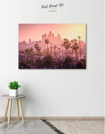 LA Skyline Canvas Wall Art