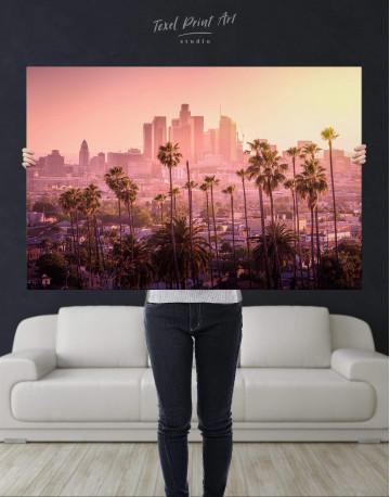 LA Skyline Canvas Wall Art - image 2