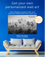 LA Skyline Canvas Wall Art - Image 5