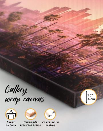 LA Skyline Canvas Wall Art - image 1