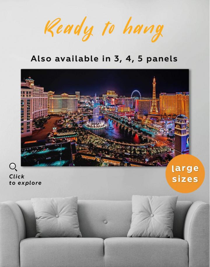 Vegas Skyline Canvas Wall Art
