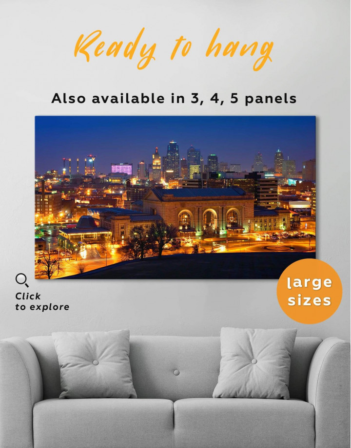 Kansas City Skyline Canvas Wall Art - Image 0