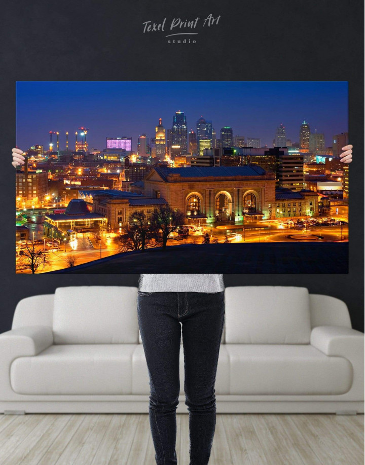 Kansas City Skyline Canvas Wall Art - Image 4