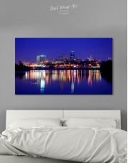 Night Kansas City View Canvas Wall Art