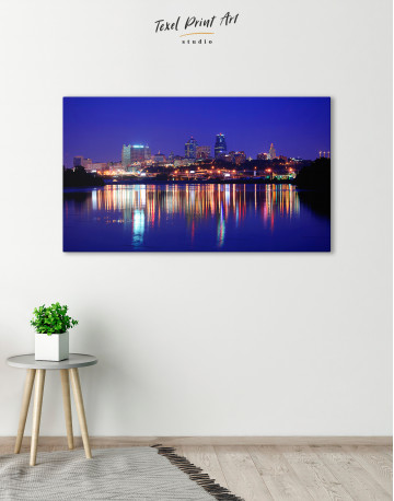 Night Kansas City View Canvas Wall Art - image 8