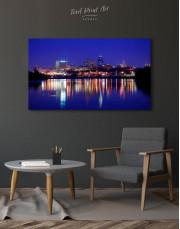 Night Kansas City View Canvas Wall Art - Image 3