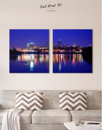 Night Kansas City View Canvas Wall Art - image 5