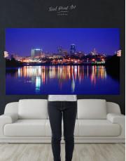 Night Kansas City View Canvas Wall Art - Image 7