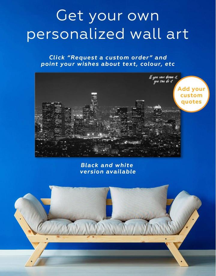Los Angeles Skyline Canvas Wall Art - Image 1