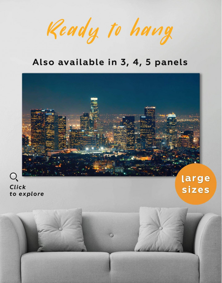 Downtown Los Angeles Canvas Wall Art - Image 0