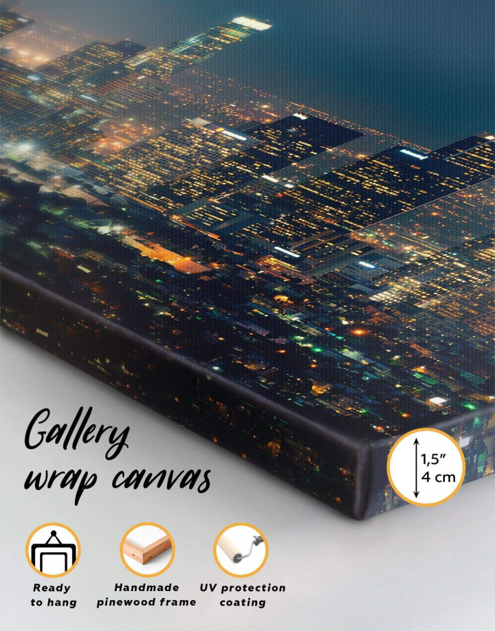 Downtown Los Angeles Canvas Wall Art - Image 5
