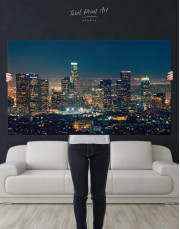 Downtown Los Angeles Canvas Wall Art - Image 4