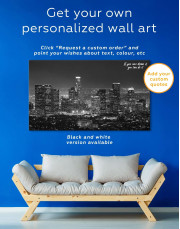 Downtown Los Angeles Canvas Wall Art - Image 1