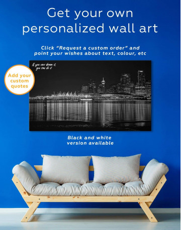 Vancouver Skyline Canvas Wall Art - image 1