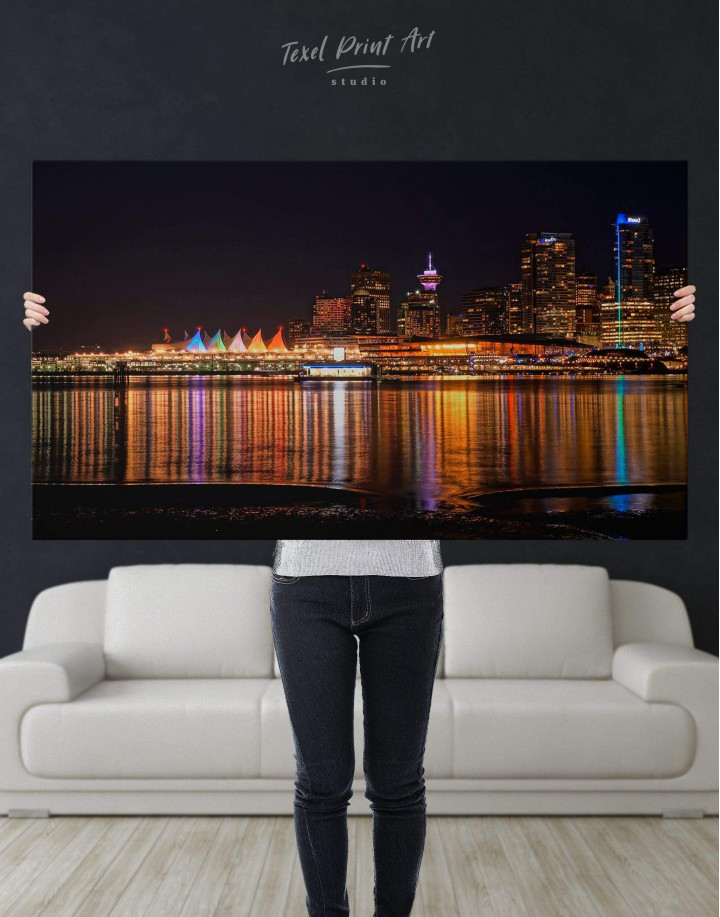 Vancouver Skyline Canvas Wall Art - Image 4