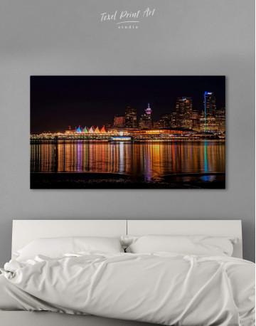 Vancouver Skyline Canvas Wall Art