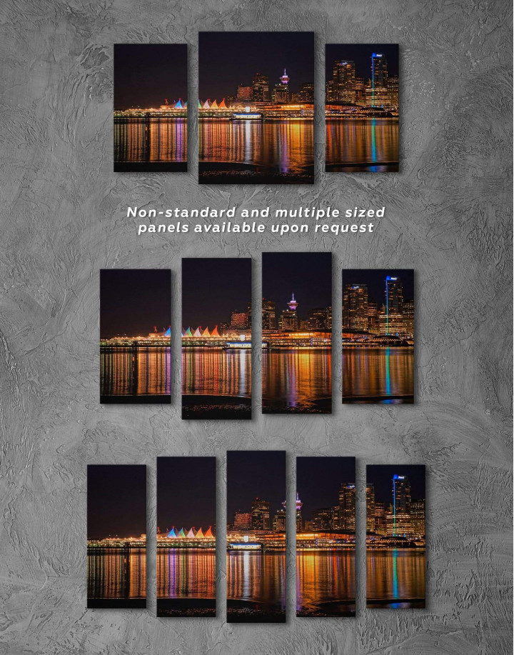Vancouver Skyline Canvas Wall Art - Image 2