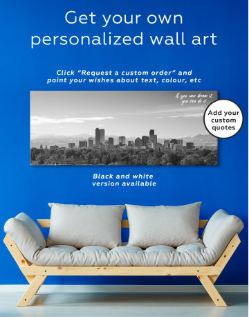 Panoramic Denver Skyline Canvas Wall Art - image 1