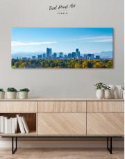 Panoramic Denver Skyline Canvas Wall Art
