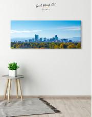 Panoramic Denver Skyline Canvas Wall Art - Image 4