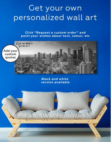 Panoramic Houston Texas Canvas Wall Art - image 1