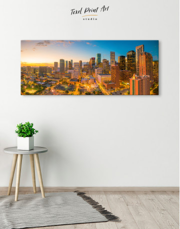 Panoramic Houston Texas Canvas Wall Art - image 4