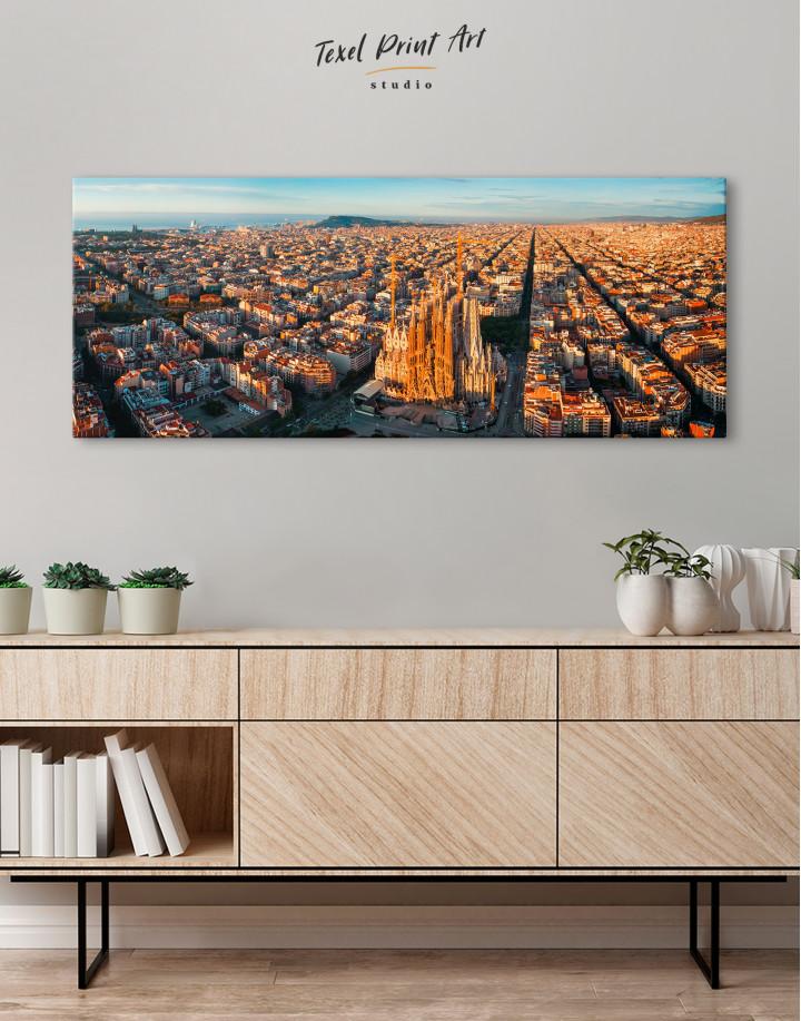 Panoramic Barcelona Skyline with Sagrada Familia Canvas Wall Art - Image 4
