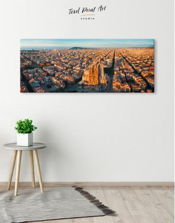 Panoramic Barcelona Skyline with Sagrada Familia Canvas Wall Art - image 2