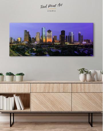 Panoramic Houston Cityscape Canvas Wall Art - image 4