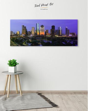 Panoramic Houston Cityscape Canvas Wall Art - image 1