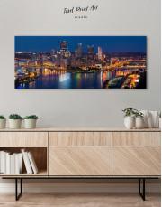 Panoramic Pittsburgh Pennsylvania Skyline Canvas Wall Art - Image 4