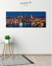 Panoramic Pittsburgh Pennsylvania Skyline Canvas Wall Art - Image 1
