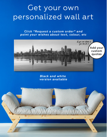 Panoramic Chicago View from Northerly Island Canvas Wall Art - image 2