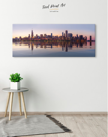 Panoramic Chicago View from Northerly Island Canvas Wall Art - image 1