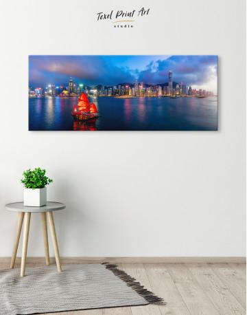 Panoramic Hong Kong Skyline Canvas Wall Art - image 4
